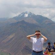 Peering across a mountain